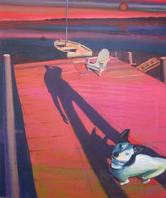 Karl Newman 'Jetty' 138 x 2008 Contemporary Paintings, Cool Pictures, Art, Art Background, Kunst, Performing Arts, Contemporary Art Paintings
