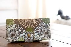 BiFold Clutch Wallet  Checkbook Handmade Wallet  by cottonpurr, $50.00
