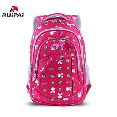 $51.65   RUIPAI 2017 School Bags for Girls Cute Printing Women's Backpacks Nylon Children Schoolbags for Girl Boys Preppy Style Back pack Outfit Accessories FromTouchy Style   Free International Shipping. Cute Backpacks For College, Fashionable Backpacks For School, College Bags For Girls, Trendy Backpacks, Women's Backpacks, Backpack Bags, Leather Backpack, Cute School Bags, Kids Bags