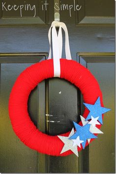 Keeping it simple: 4th of July wreath