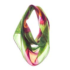 Watermelon Seeds from Rho: 100% luxury hand-painted silk scarves