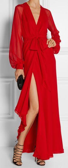 HANEY Silk Wrap Gown