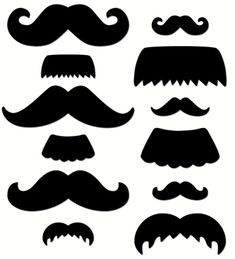 """These Mustache Medley Designer Cut-Outs are pre-slit for use on pencils or sticks and come in different """"shaves"""" and styles!"""