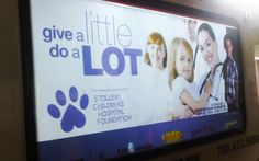 The Stollery Children's Hospital took advantage of the illuminated panels of ThinkTANK's Mobile Showroom for an awesome night-time advertising experience. #outdooradvertising #alternativeadvertising #mobileads #outofhomemarketing