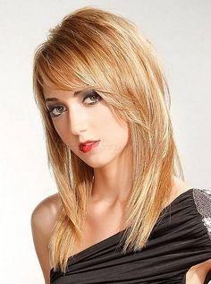 női frizurák hosszú hajból - lépcsőzetesen nyírt frizura hosszú hajból