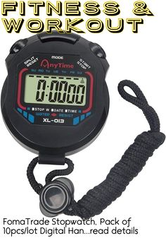 FomaTrade Stopwatch, Pack of 10pcs/lot Digital Handheld Multi-Function Professional Electronic Chronograph Sports Stopwatch Timer Stop Watch (10) ... (This is an affiliate link) #fitnessaccessories