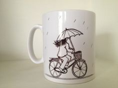 Cycling in the Rain Mug