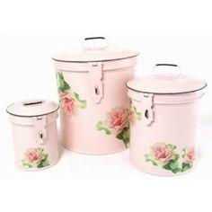 Pink Vintage Canister Set
