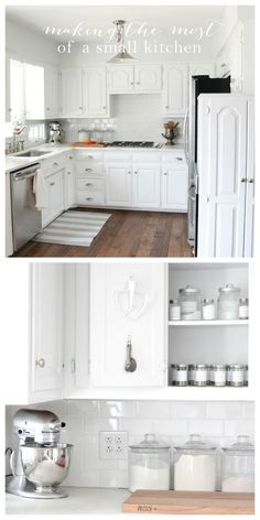 Making the most of a small kitchen - creative ideas to organize your kitchen to maximize space and function!