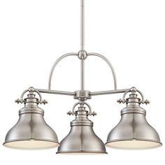 "Light fixture for over the dining room table.    Quoizel ER5103 Emery 3 Light 24"" Wide Chandelier at LightingDirect.com."