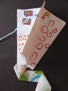 DIY Kid's Kite that is Fun Even Without Wind (Link to a tutorial a Maya Made who then links you to video instructions)