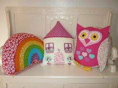 Girls Cushions Sewing Projects, Projects To Try, Cushion Tutorial, Cushions, Pillows, Kids Rooms, To My Daughter, Shabby Chic, Craft Ideas