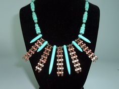 Native Inspired Statement Necklace with by extravagantdesigns, $45.00
