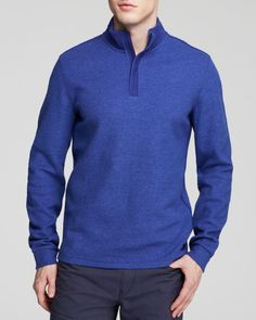 Boss Hugo Boss Piceno 53 Jacquard Rib Quarter Zip Sweater - Bloomingdale's Exclusive