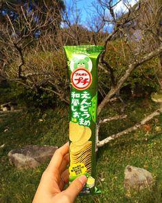 Petit Endoumame Wafu Shio  Crujientes y sabrosas patatas fritas con sabor a guisante verde. Un exquisito  y nuevo sabor del Japón.  www.boxfromjapan.com  #boxfromjapan #bfj #bfjenero #snack #petit