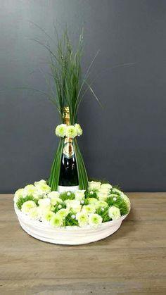 Wine bottle arrangement wet bar