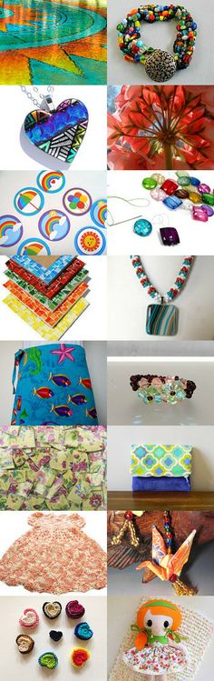 The Colors Of Happy 2 !  Thank you my friends !! by Linda on Etsy--Pinned with TreasuryPin.com  #statteam