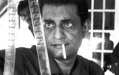 "Satyajit Ray and Madhabi Mukherjee during production on ""Charulata,"" 1964."