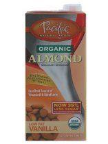 Pacific Organic Almond Low Fat Vanilla (Non-diary Beverage) (1 x 32 FL OZ)