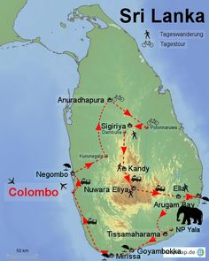 Sri Lanka_Reiseroute Mehr