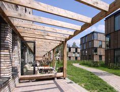 M I X Architectuur - Projecten - Wageningen, Rijnsteeg Co Housing, Urban Planning, Urban Design, Apartments, Terrace, Facade, Public, Architecture, Building