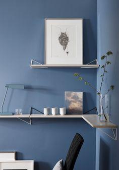 Pythagoras by maze interior - one shelf system, unlimited design solutions. Corner Shelves, Wall Shelves, Shelving, Swedish Design, Scandinavian Design, Unique Shelves, Shelf System, Blue Rooms, Design Shop