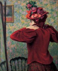 Federico Zandomeneghi | 1841-1917, Italy | The Red Vest, ca. 1895