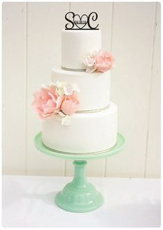 Custom Wedding Cake Topper Initials and Heart by ThePinkOwlDesigns, $30.00 - cant believe how perfect this one is. so cute