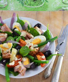barbequed tuna nicoise salad