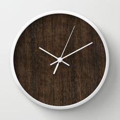 Smoked Etimoe Wood Wall Clock