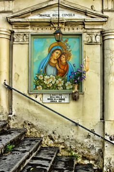 A street shrine outside the church in Gricignano d'Aversa, Italy