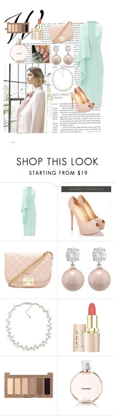 """Lost and hour of sleep but I still loll amazing"" by kayla092 ❤ liked on Polyvore featuring Nuevo, Cushnie Et Ochs, Forever 21, Carolee, Urban Decay and Chanel"