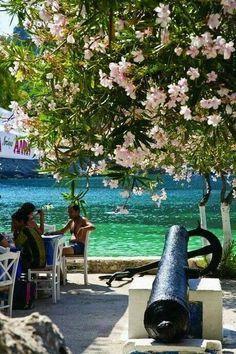 Assos village in Kefalonia , Greece