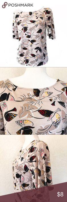 Dove Printed Top Very cute top in EUC. Old Navy Tops