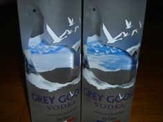 """Grey Goose 1.75 Liters Vodka Rare Huge 16"""" Size Collectable 2 Bottle Set  If your looking for somthing special this holiday season for the person who has everything or is impossible to shop for, one of my 250 plus items might make the perfect gift!"""