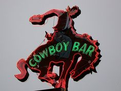 old cowboy neon sign - Google Search
