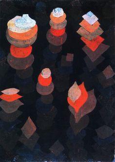 Paul Klee - Wachstum der Nachtpflanzen (Growth of the Night Plants) 1922