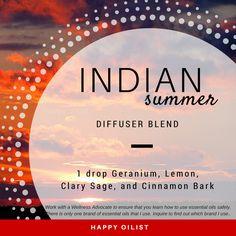 Indian Summer diffuser blend