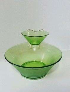 Vintage Chip and Dip Set Federal Glass Norse Limelight Original Box 1970s #Federal