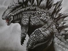 Godzilla Big Fat Godzilla Coloring Pages Lineart