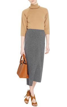 Camel Scallop Collar Raglan  by J.W. Anderson Now Available on Moda Operandi