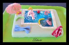 Voici une piscine gâteau yaourt & nutella ! Miam