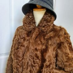 Vintage Glam Lambskin Fur Short Jacket is perfect for fall casual, cocktail party or winter wedding. #vintageFashion #furcoat #ChicDeVintage1