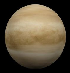 """Venus is the second planet from the Sun, orbiting it every 224.7 Earth days. In size and mass, it is very similar to the Earth, and is often described as Earth's """"sister"""" or """"twin"""".  Venus has an extremely dense atmosphere, which consists mainly of carbon dioxide and a small amount of nitrogen."""