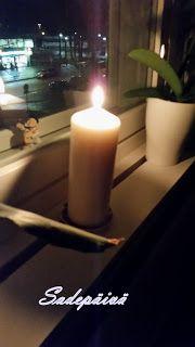 Sadepäivän pisaroita Candles, Candy, Candle, Pillar Candles, Lights