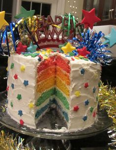 "My ""Happy New Year"" Cake ~ 2012!  Thank you www.marthastewart.com for the wonderful idea :)"