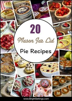 Mason Jar Lid Pie Recipes — This blog post has 20 mouthwatering Mason jar lid pie recipes. Miniature pies are not only perfect for portion control, they're also easy to serve.