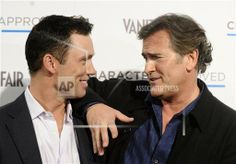 Actors Jeffrey Donovan and Bruce Campbell attend the USA Network and Vanity Fair 2010 Character Approved Awards at the IAC building in New York, on Thursday, Feb. 25, 2010. (AP Photo/Peter Kramer) || via AP Images www.apimages.com/...