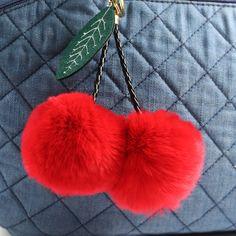 c0dbc9ac2fff0 Rabbit Fur Ball Keychain Pom Pom Fluffy Key Chains Pompom Car Keyring Women  Bag Pendant porte
