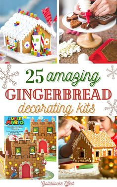 The Best Gingerbread House Kits 2020. It's been a rough year & we all deserve something nice. Treat yourself to a gingerbread house! Christmas is fast approaching, which means we need to soak up as much Holiday Spirit as possible. We've gathered up some fun gingerbread options for you to try out this year. Forget about organizing all your baking supplies, these craft kits come with full instructions to make your holiday decorating as easy as possible. #gingerbreadhouse #gingerbreadhousekit Best Gingerbread House Kit, Gingerbread Cookie Mix, Cardboard Gingerbread House, Gingerbread Train, Cool Gingerbread Houses, Easy Diy Crafts, Diy Crafts For Kids, Christmas Crafts To Make, Christmas Ideas